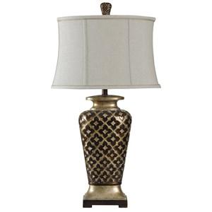 StyleCraft Lamps Traditional Raise Patterned Lamp