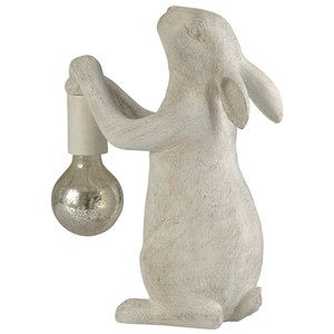 Distressed White Rabbit Lamp