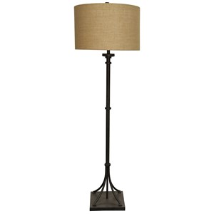 Transitional Iron Base Floor Lamp