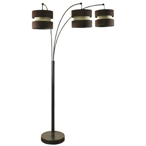 StyleCraft Lamps Madison Bronze 3 Arm Arch Floor Lamp