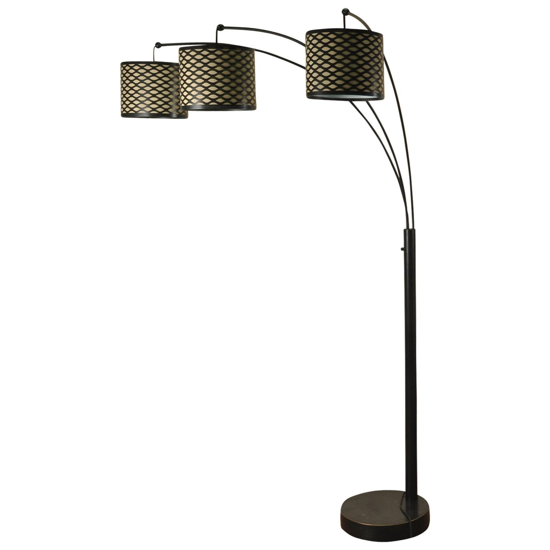 Madison Bronze Three Arm Arch Floor Lamp