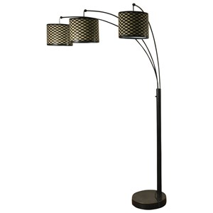 StyleCraft Lamps Madison Bronze Three Arm Arch Floor Lamp