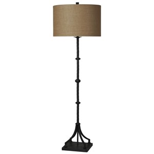 Industrial Cast Iron Floor Lamp