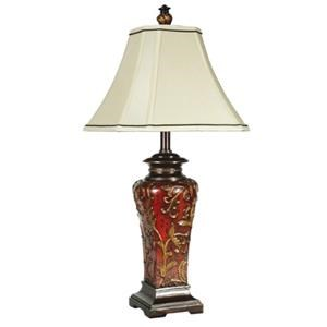 StyleCraft Lamps Crimson Antique Vines Lamp