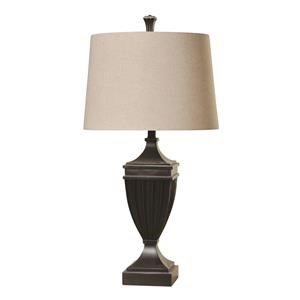 StyleCraft Lamps Bronzed Fluted Lamp