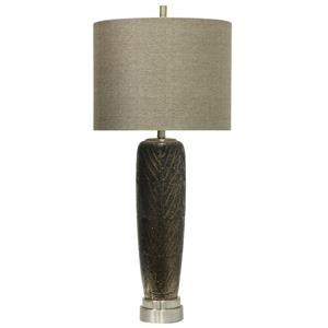 StyleCraft Lamps Metallic Leaf Motif Table Lamp