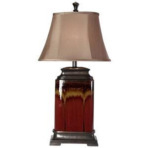 StyleCraft Lamps Ceramic Glazed Table Lamp