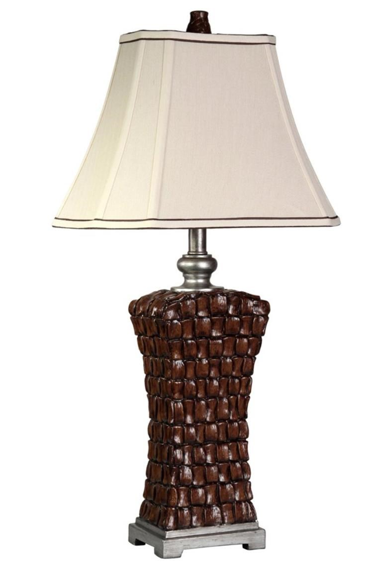 Woven Silver Accents Lamp