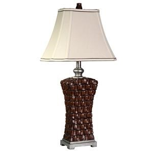 StyleCraft Lamps Woven Silver Accents Lamp