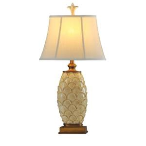 StyleCraft Lamps Antique White Scallop Lamp