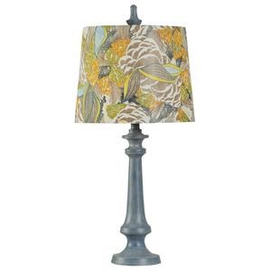 StyleCraft Lamps Denim Blue/Painted Shade Lamp