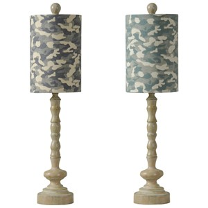 Set of 2 Steel Buffet Lamps