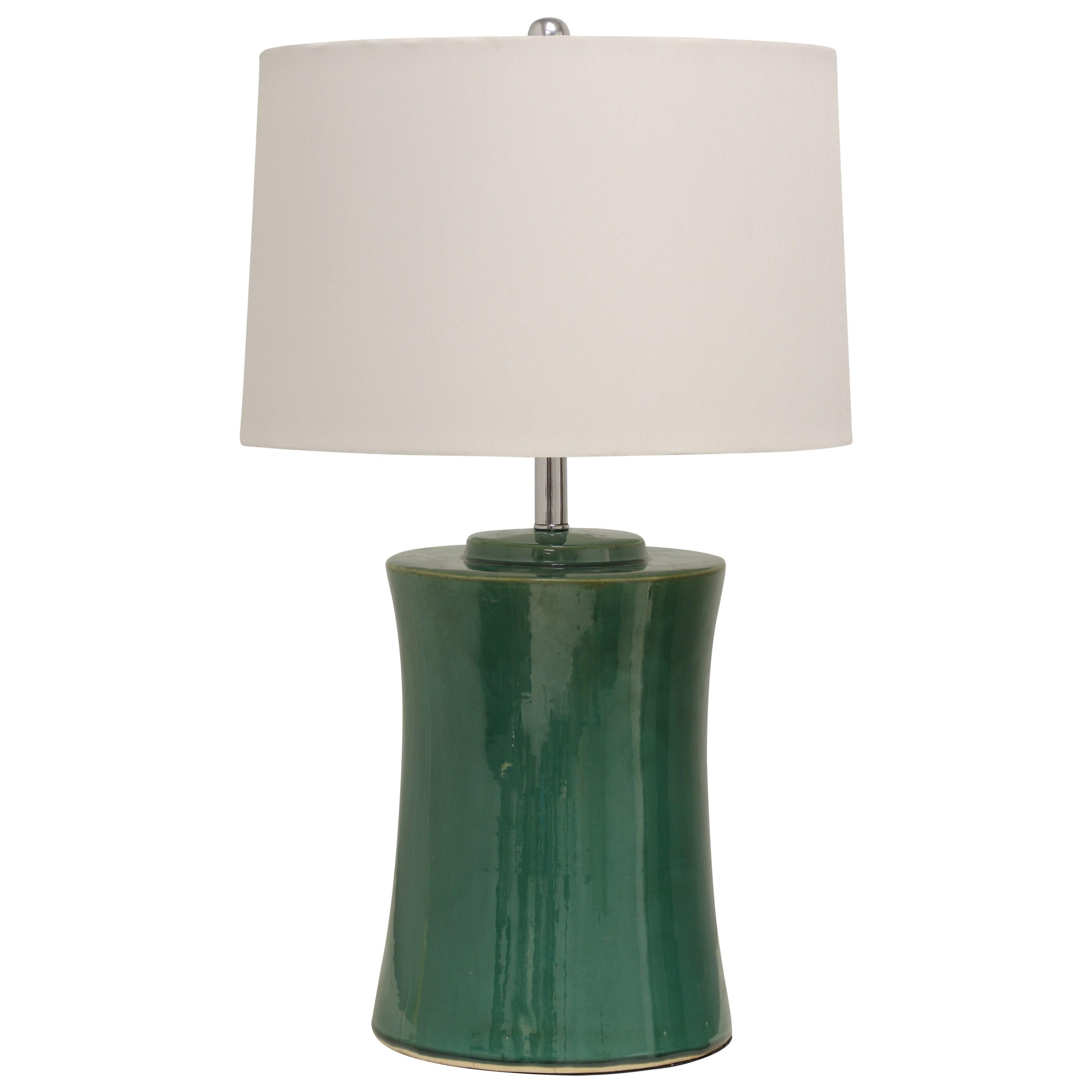 Round Ceramic Table Lamp