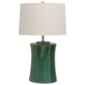 Round Ceramic Table Lamp