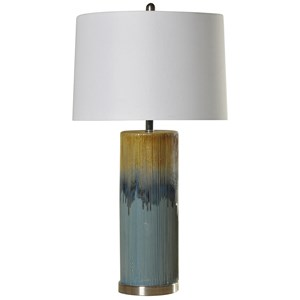 StyleCraft Lamps Ceramic & Steel Table Lamp