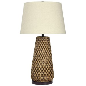 StyleCraft Lamps Water Hyacinth Table Lamp