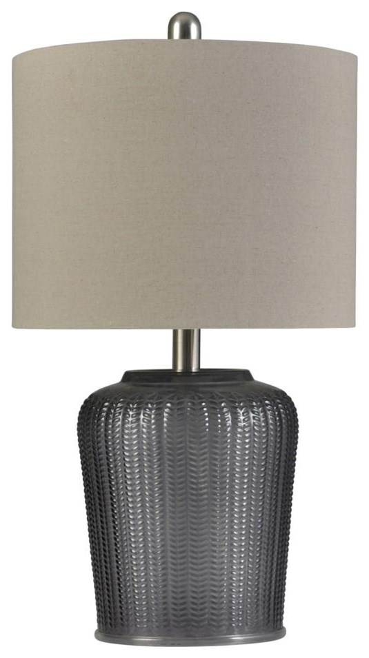 stylecraft lamps l13918 slate transitional table lamp | dunk
