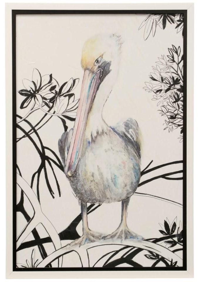 StyleCraft DW WM22528 Pelican on a Branch Wall Art | Dunk & Bright ...