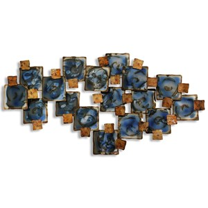 StyleCraft Wall Décor Burnished and Glazed Metal Wall Sculpture