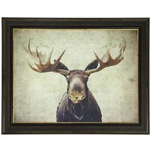 Moose Textured Print