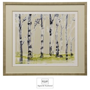 StyleCraft Wall D?r Hand-Signed and Numbered Birch Tree Print