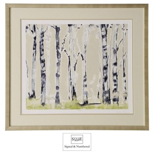 StyleCraft Wall Décor Hand-Signed and Numbered Birch Tree Print
