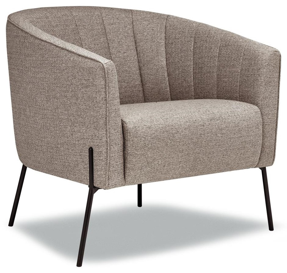 5350 Accent Chair in Sylvester Fossil by Lewis Home at Stoney Creek Furniture