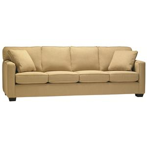 5901 Four Seat Sofa In Casual Contemporary Style Stoney Creek Furniture Sofas