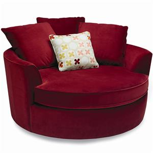 Stylus Nest Round Upholstered Chair With Pillow Back