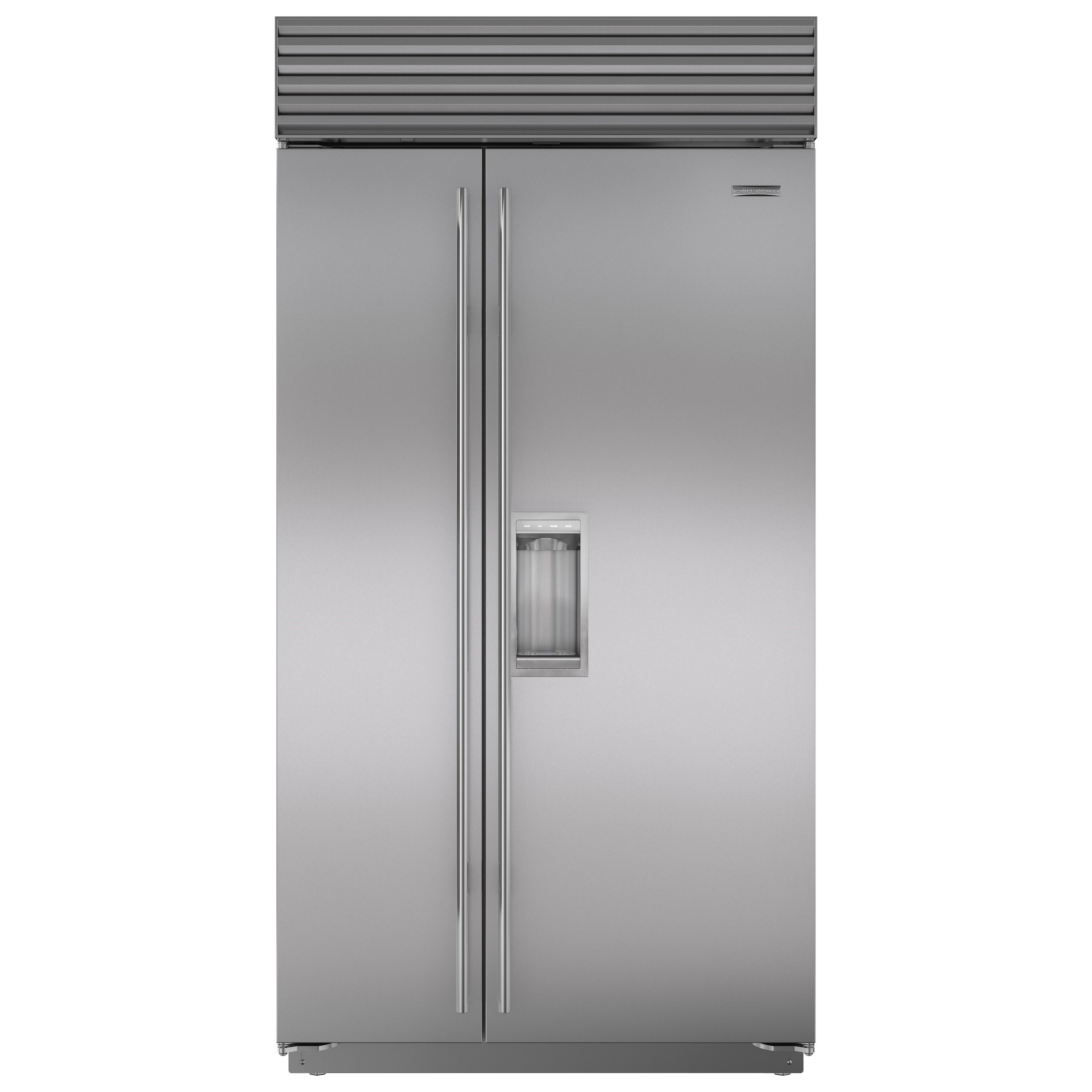 subzero double freezer sub refrigerator stock refrigerators integrated zero drawer models model in product showroom drawers