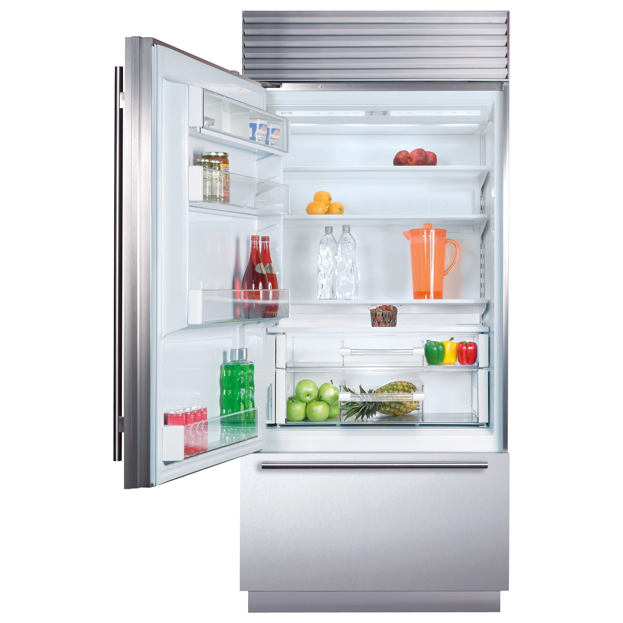 """36"""" Built-In Over-and-Under Refrigerator"""