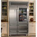 Sub-Zero PRO 48 Refrigeration Professional Series 30.1 Cu. Ft. French-Door Refrigerator with Glass Door - Shown in a Built-In Application
