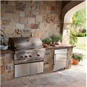 Sub-Zero Undercounter Refrigeration ENERGY STAR® 5.7 Cu. Ft. Undercounter Refrigerator Approved for Outdoor Use  - Shown with Matching Wolf Grill