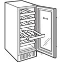 Sub-Zero Wine Storage 26 Bottle Undercounter Compact Wine Storage - Six Shelves for 26 Bottles
