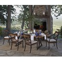 Summer Classics Belize 7 Piece Outdoor Dining Set - Item Number: 382017+2x422017+4x422117