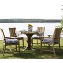 Summer Classics Club Teak Dining Set - Item Number: 28264+2x30+C030+2x31+C031