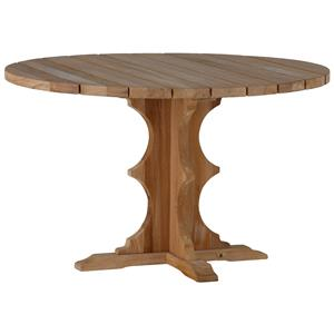 Summer Classics Club Teak French Teak Round Dining Table