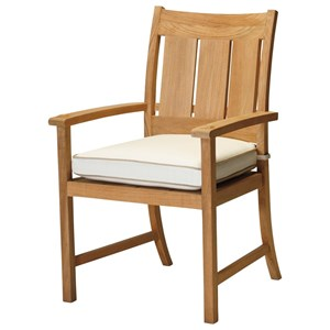 Summer Classics Club Teak Arm Chair with Cushion