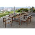 Summer Classics Coast 9 Piece Outdoor Dining Set - Item Number: 27474+6x27314+2x27304