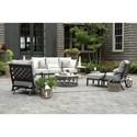 Summer Classics Lattice Lattice Outdoor Lounge Chair