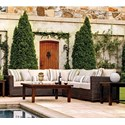 Summer Classics Rustic Outdoor Rustic Sectional Sofa - Item Number: 37632+37682+37692+37682+37622
