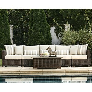 Summer Classics Rustic Outdoor Sectional Sofa