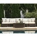 Summer Classics Rustic Outdoor Sectional Sofa - Item Number: 37632+3x37682+37622