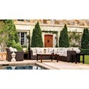Summer Classics Rustic Outdoor Sectional and Chair Set - Item Number: Outdoor Sectional and Chair Set
