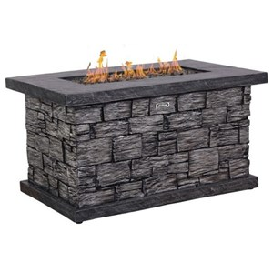 Stone Look Fire Table