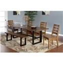 Sunny Designs 1031 Solid Mahogany Live Edge Table & 6 Chairs - Item Number: PKG1031TAB2