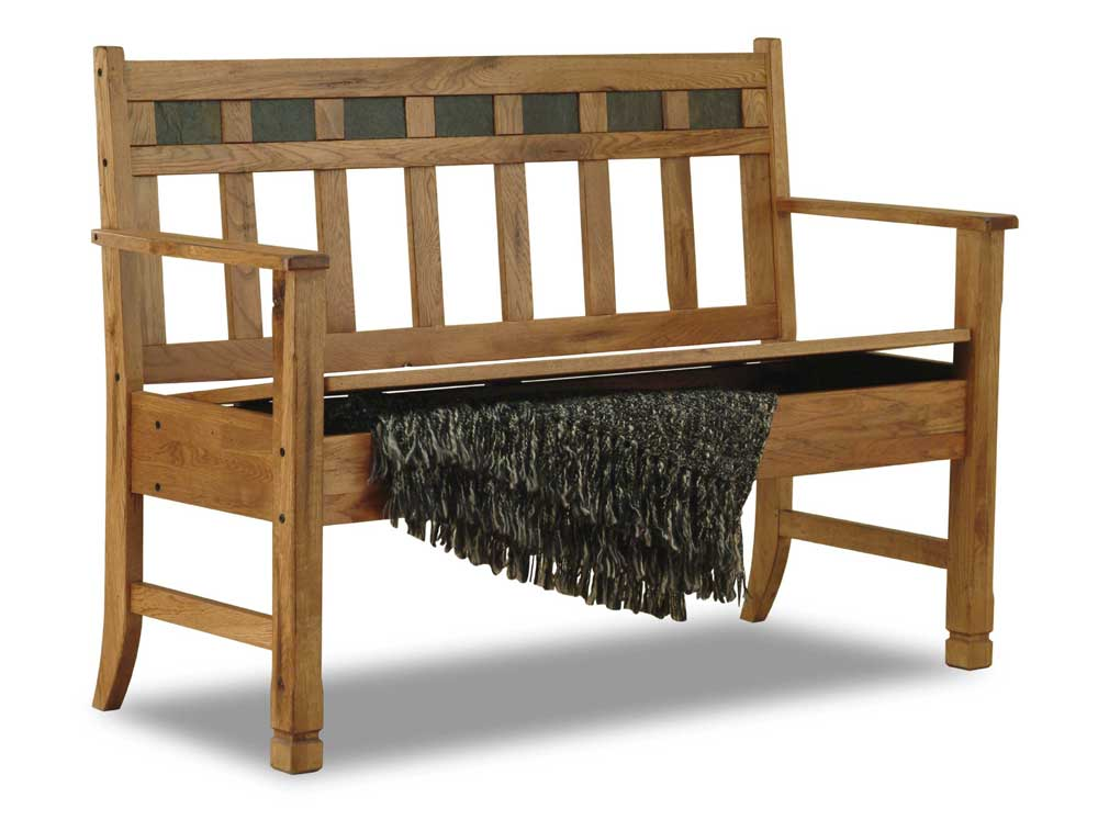 Sunny Designs Sedona 1594ro Rustic Oak Bench With Storage Furniture And Appliancemart Bench