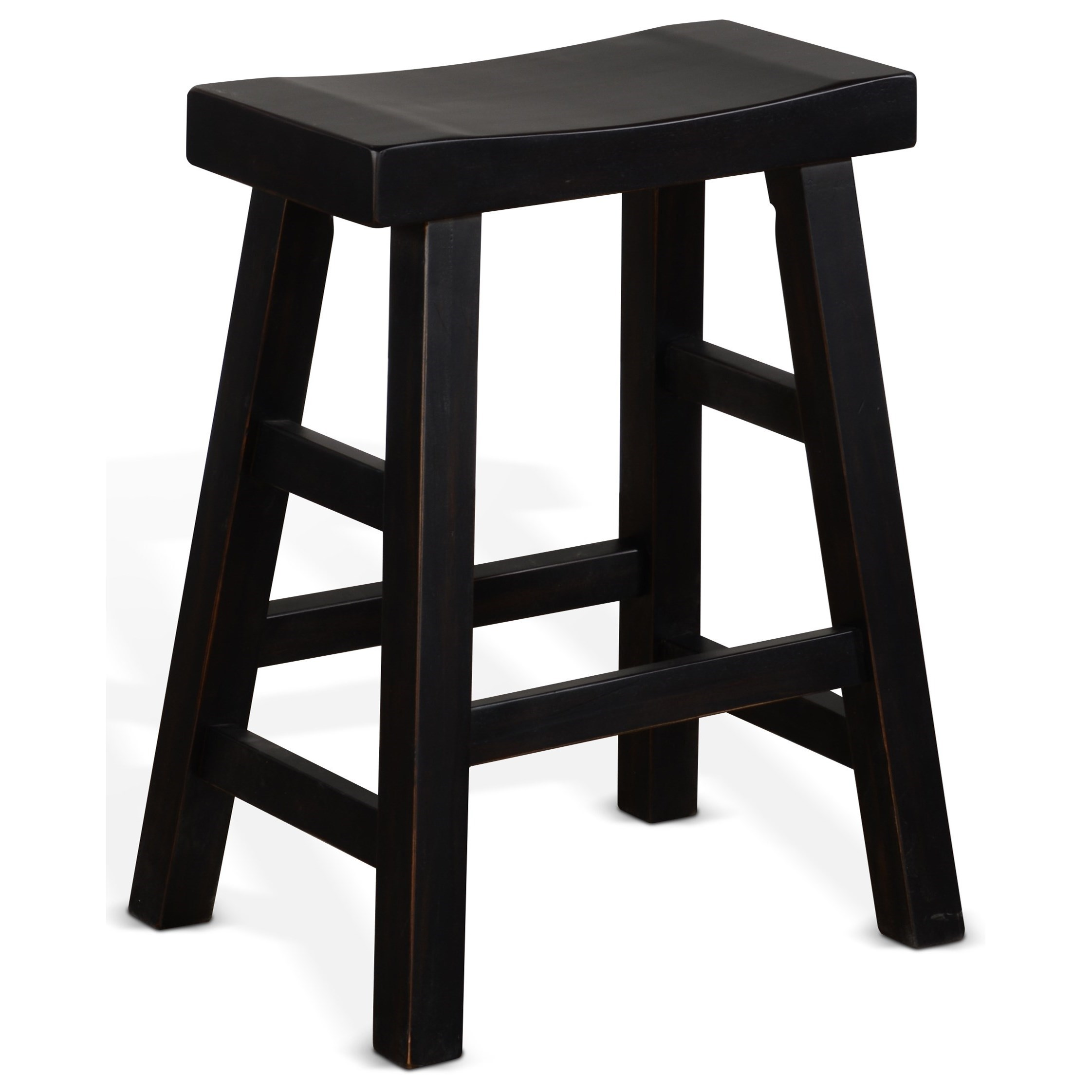 "1768 24""H Saddle Seat Stool, Wood Seat by Sunny Designs at Miller Home"