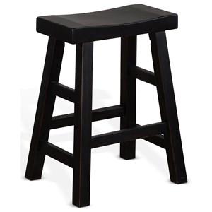 """24""""H Saddle Seat Stool, Wood Seat"""