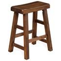"Sunny Designs 1768 24""H Saddle Seat Stool, Wood Seat - Item Number: 1768DC2-24"